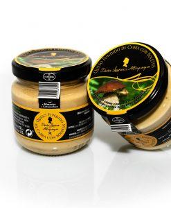 Crema de queso fundido con Boletus edulis